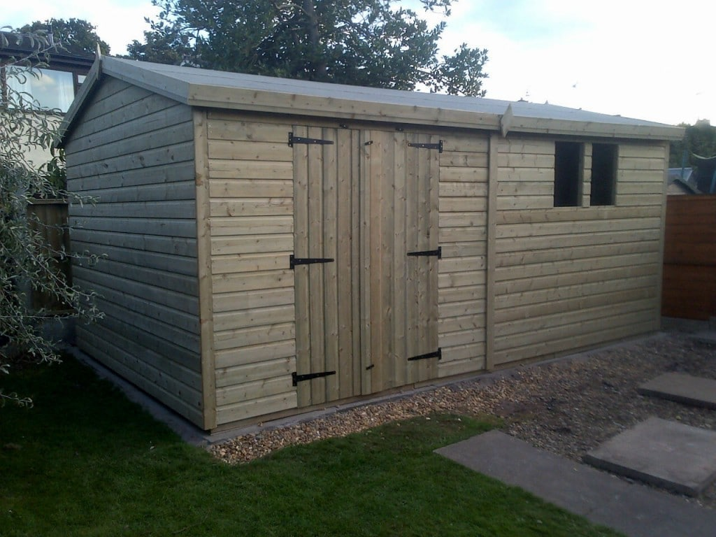 16x10 19mm Ultimate Tanalised Apex Shed West Midlands Sheds & Summerhouses