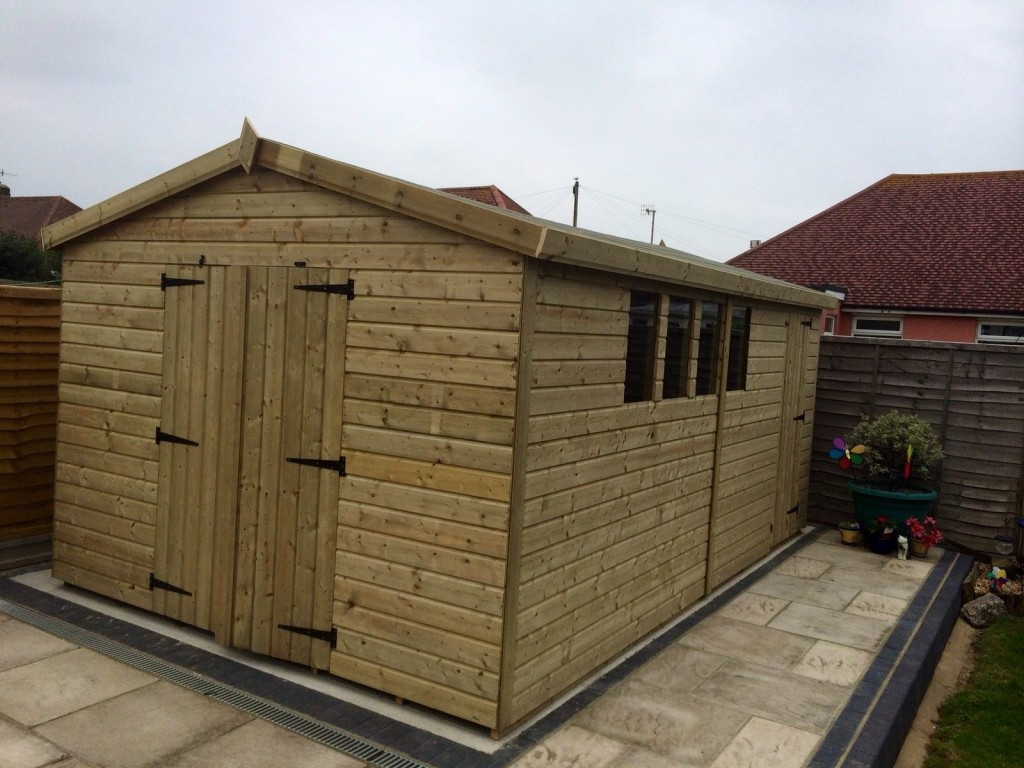 16x10 13mm Ultimate Tanalised Apex Shed West Midlands Sheds & Summerhouses