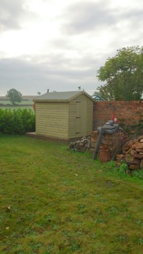 8x6 Ultimate Tanalised Apex Shed 19mm West Midlands Sheds & Summerhouses