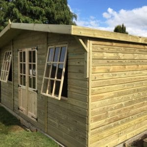 16x10 Georgian Reverse Summerhouse with 2ft Canopy West Midlands Sheds & Summerhouses