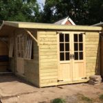 20x10 Home Studio Georgian Summerhouse with 2ft Canopy West Midlands Sheds & Summerhouses