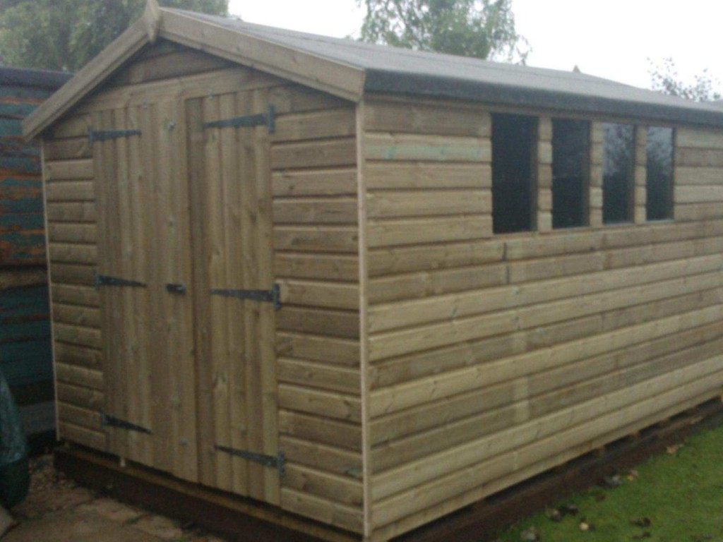 10×8 ULTIMATE TANALISED APEX SHED West Midlands Sheds and Summerhouses