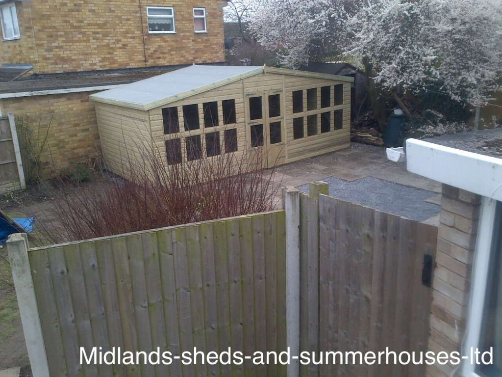 20x10 Ultimate Tanalised Summerhouse Door Middle West Midlands Sheds & Summerhouses