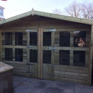 12x8 Tanalised Summerhouse 19mm West Midlands Sheds & Summerhouses