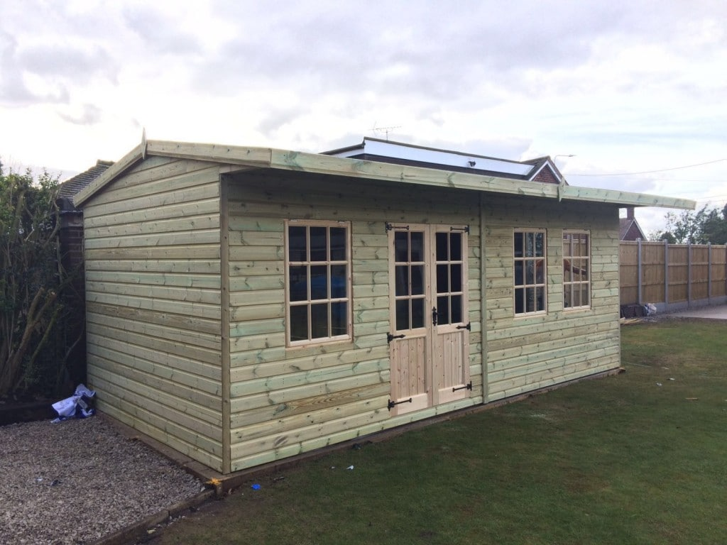 20x10 Ultimate Georgian Style Summerhouse With Canopy West Midlands Sheds & Summerhouses