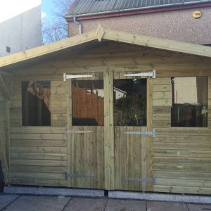 12x10 19mm Tanalised Summerhouse West Midlands Sheds & Summerhouses