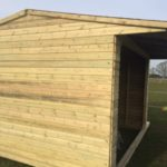 12x12 Horse Shelter with 18mm Kick Boards West Midlands Sheds & Summerhouses