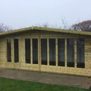 20x10 Ultimate Reverse Summerhouse 19mm West Midlands Sheds & Summerhouses