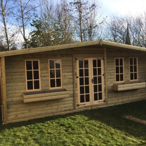 20x10 Ultimate Georgian Log Lap Summerhouse West Midlands Sheds & Summerhouses