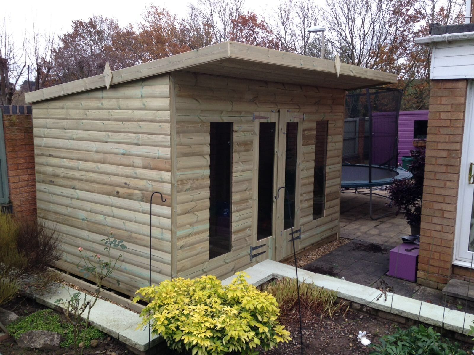 Wooden Treated Pent Roof Timber Garden Shed Ultimate Tanalised
